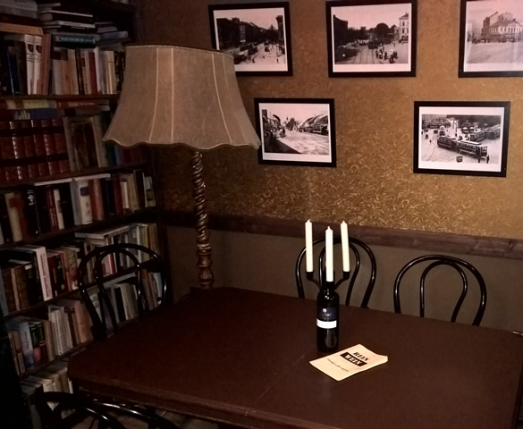 Readers corner with a cozy atmosphere